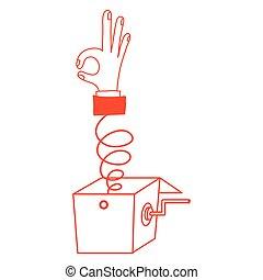 Isolated human hand design