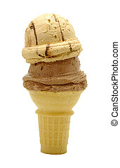Ice Cream Cone - Isolated Ice Cream Cone
