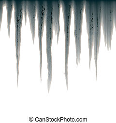 icicles - isolated icicles hanging over white