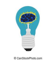 Isolated idea light bulb icon