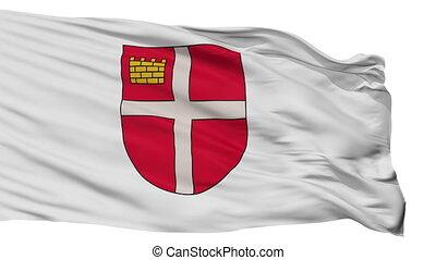Isolated Ikskile city flag, Latvia - Ikskile flag, city of...