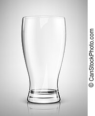 isolated., illustratie, traditionele , bier, vector, glas, lege