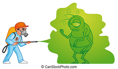 Big pest extermination - Isolated illustration Big pest...