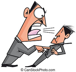 Boss screaming his employee - Isolated illustration Boss...