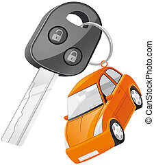 Car key - Isolated illustration Car key
