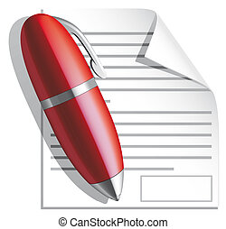 Isolated illustration Contract icon