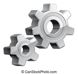 Gears settings icon - Isolated illustration Gears settings ...