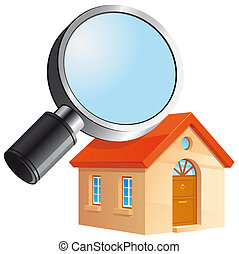 House search icon - Isolated illustration House search icon