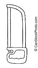 ISOLATED ILLUSTRATION OF A METAL SAW ON A WHITE BACKGROUND
