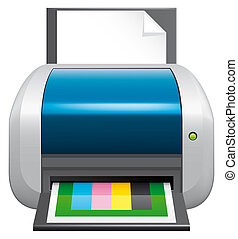 Printer - Isolated illustration  Printer icon