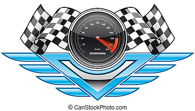 Racing insignia - Isolated illustration Racing insignia