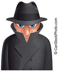 Spy - Isolated illustration Spy
