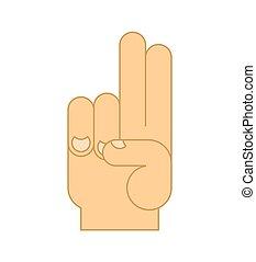 isolated., ilustracja, znak, zakon, wektor, błogosławieństwa, fingers., ręka