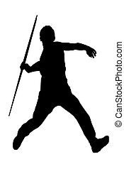 Male Javelin Thrower - Isolated Image of a Male Javelin...