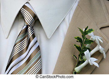 isolated image of formal menswear