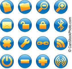 isolated internet icons