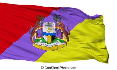Isolated Ipoh Perak city flag, Malaysia - Ipoh Perak flag,...