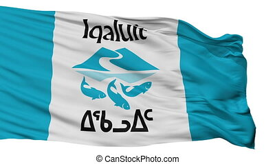 Isolated Iqaluit city flag, Canada - Iqaluit flag, city of...