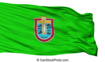 Isolated Iquitos city flag, Peru - Iquitos flag, city of...