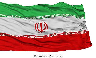 Isolated Iran Flag