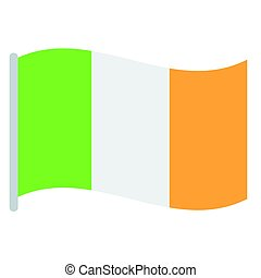 Isolated Irish flag on a white background, Vector...