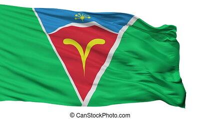 Isolated Ishimbay city flag, Russia - Ishimbay flag, city of...