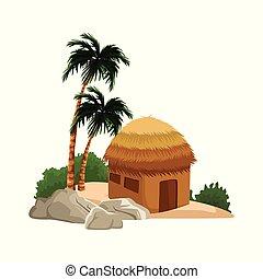 Isolated island cartoon