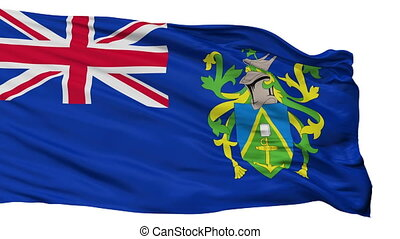 Isolated Islands city flag, Pitcairn - Islands flag, city of...