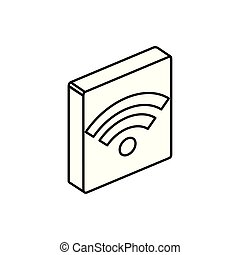 Isolated isometric wifi icon vector design