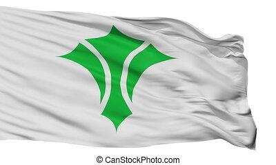 Isolated Izumi city flag, prefecture Osaka, Japan - Izumi...