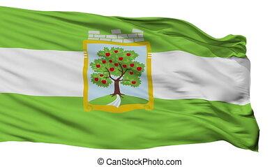 Isolated Jablonec vlajka city flag, Czech Republic -...