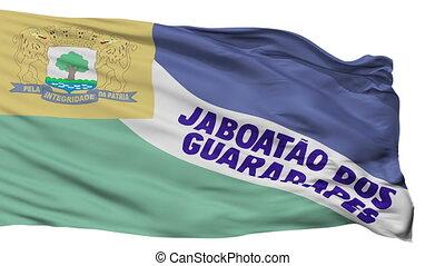 Isolated Jaboatao dos Guararapes city flag, Brasil -...