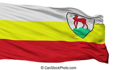 Isolated Jelenia Gora city flag, Poland - Jelenia Gora flag,...