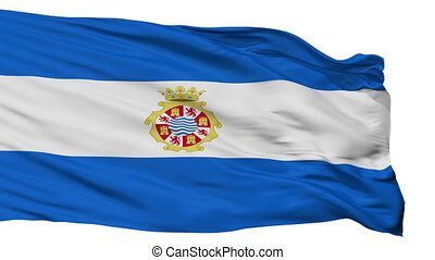 Isolated Jerez la Frontera city flag, Spain - Jerez la...