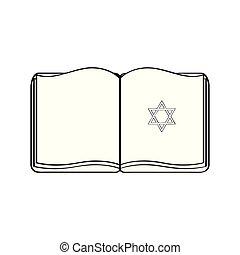 Isolated jewish bible icon