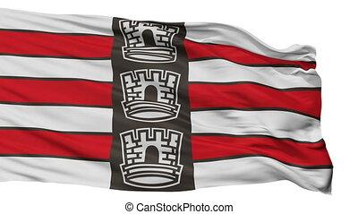 Isolated Joao Pessoa city flag, Brasil - Joao Pessoa flag,...
