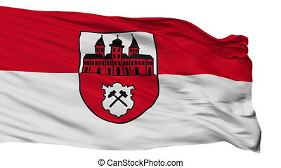 Isolated Johanngeorgenstadt city flag, Germany -...
