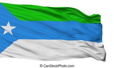 Isolated Jubaland city flag, Somalia