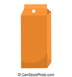 Isolated juice box icon. Drink icon - Vector