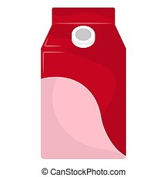 Isolated juice box on a white background - Vector