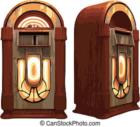 isolated Jukebox (vector)