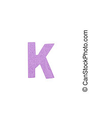 Isolated K capital letter