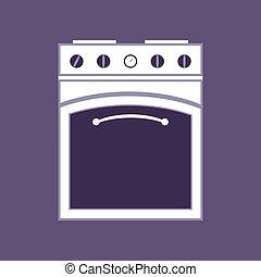 isolated., kachels, appliances., huisgezin, keuken