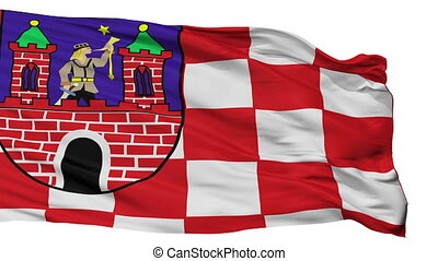 Isolated Kalisz city flag, Poland - Kalisz flag, city of...