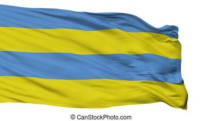 Isolated Kallaste city flag, Estonia - Kallaste flag, city...