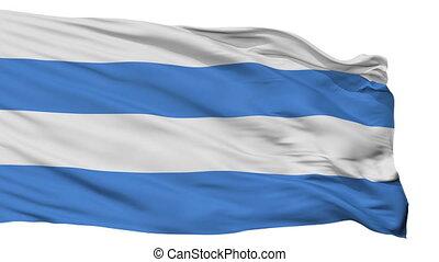 Isolated Kardla city flag, Estonia - Kardla flag, city of...