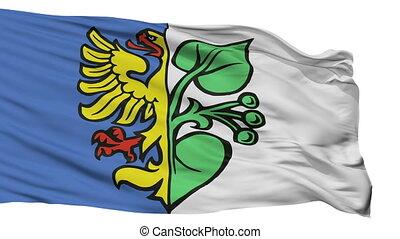 Isolated Karwina flag city flag, Czech Republic - Karwina...