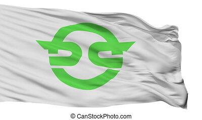 Isolated Kasai city flag, prefecture flag, Japan - Kasai ...