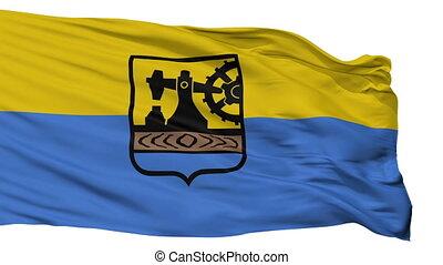 Isolated Katowice city flag, Poland - Katowice flag, city of...