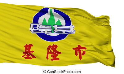 Isolated Keelung city flag, China - Keelung flag, city of...